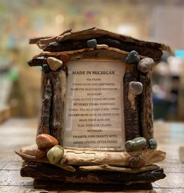 DRIFTWOOD & MICHIGAN STONE FRAME- 8