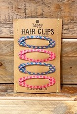 PINK/GREY HAPPY HAIR CLIPS-NATLHCL115
