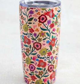 FLORAL STAINLESS STEEL TUMBLER