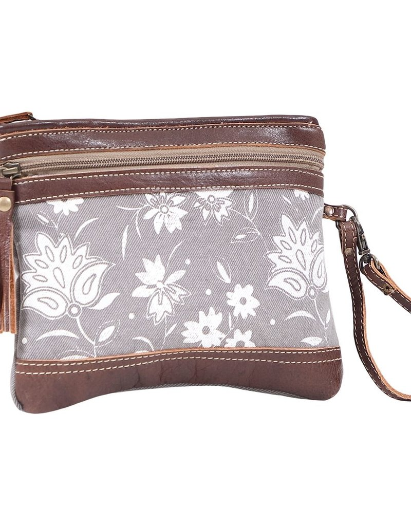 PETALS ON GREY POUCH