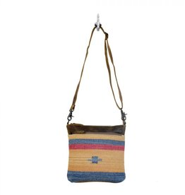 YELLOW/BLUE STRIPES CROSSBODY