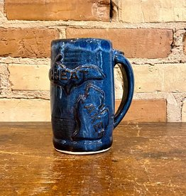 GREAT LAKES BEER STEIN-BLUE
