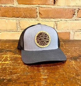 PETOSKEY STONE DETAIL TRUCKER HAT-GREY/GRAPHITE