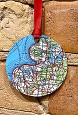 MAP OF PETOSKEY ORNAMENT