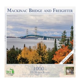MACKINAC BRIDGE WITH FREIGHTER 1000 PIECE PUZZLE