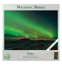 MACKINAC BRIDGE NORTHERN LIGHTS 500 PIECE PUZZLE
