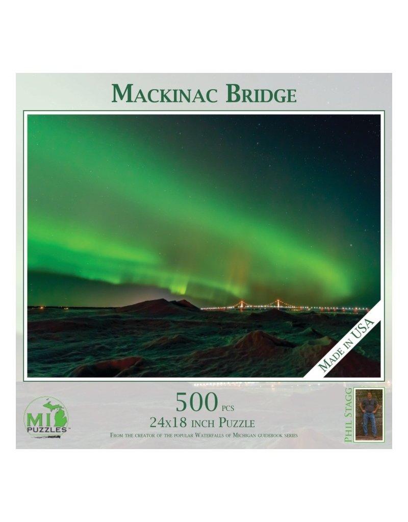 MACKINAC BRIDGE NORTHERN LIGHTS 500 PIECE PUZZLE