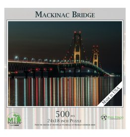 MACKINAC BRIDGE AT NIGHT 500 PIECE  PUZZLE