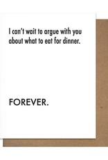ARGUE DINNER GREETING CARD