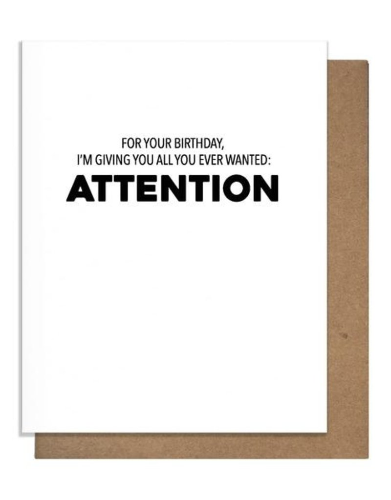 ATTENTION BIRTHDAY GREETING CARD