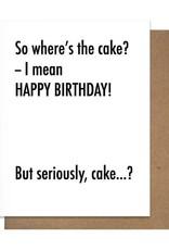 BDAY CAKE GREETING CARD