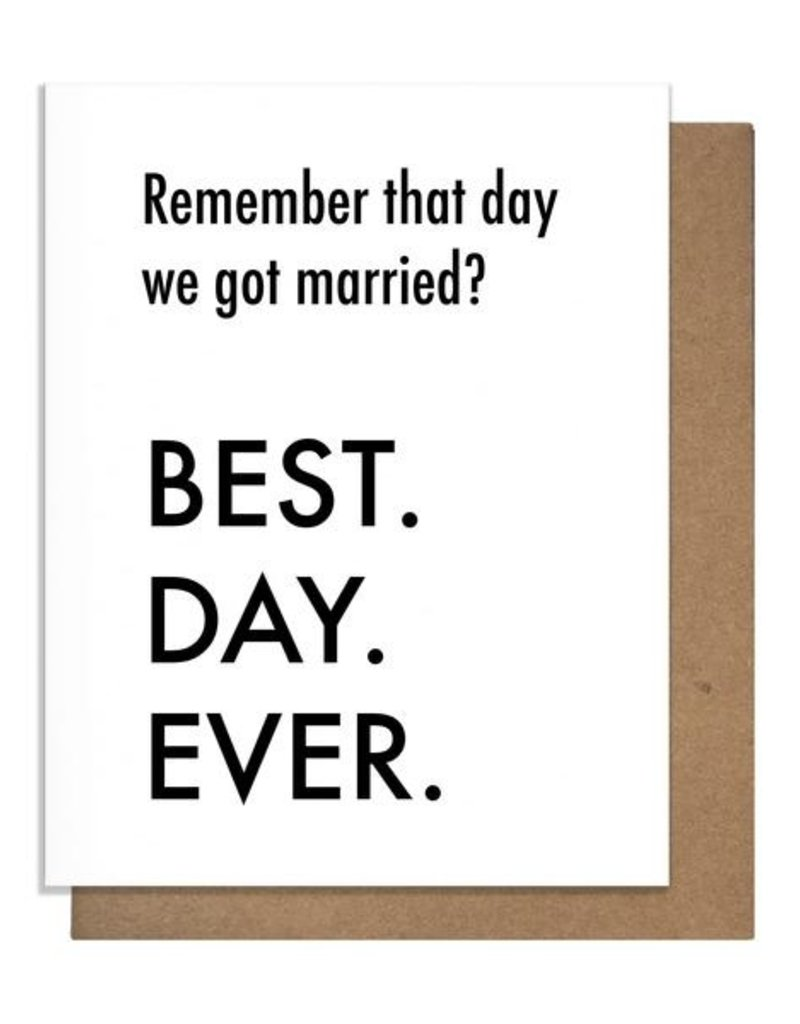 BEST DAY EVER: MARRIED GREETING CARD