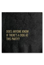 DOG AT PARTY COCKTAIL NAPKINS