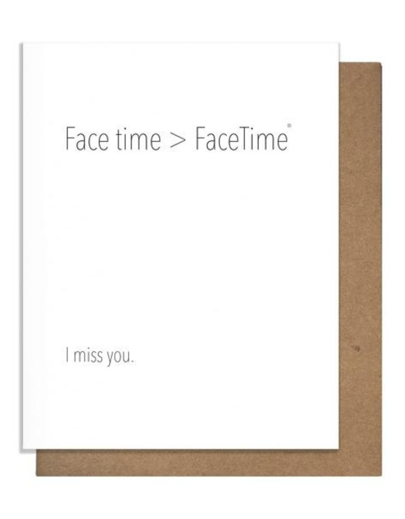 FACETIME GREETING CARD