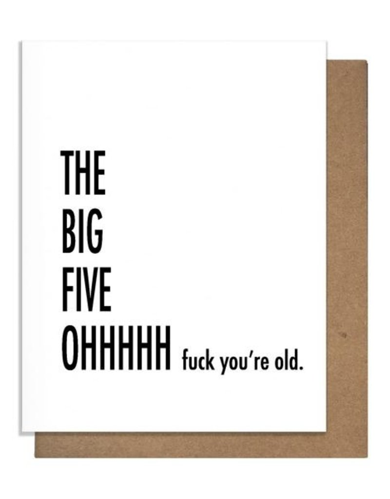 FIVE OH GREETING CARD