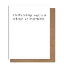 FORGET BIRTHDAY GREETING CARD