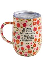 BE HAPPY COFFEE TUMBLER