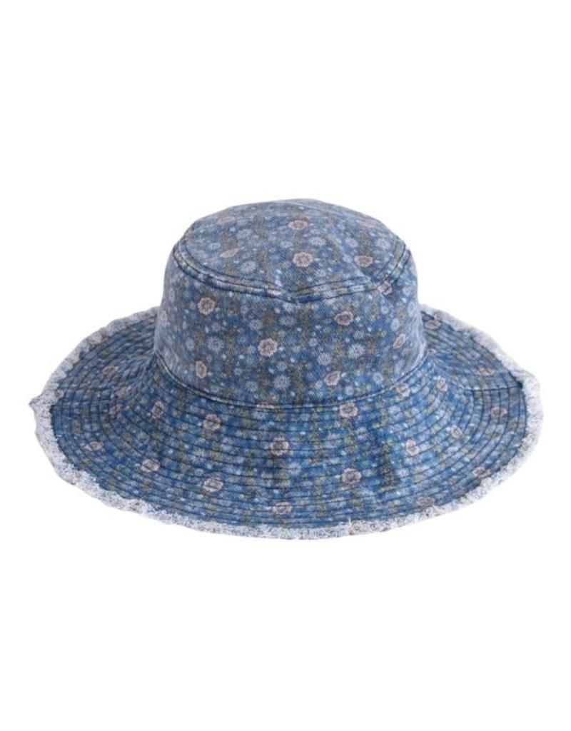 BLUE FLORAL BUCKET HAT