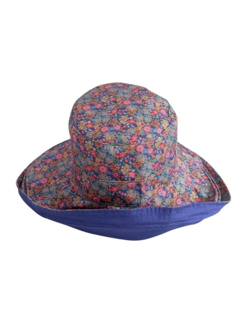 BLUE REVERSIBLE RAIN BUCKET HAT