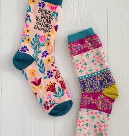 BRAVE GIRL BOHO SOCK SET OF 2