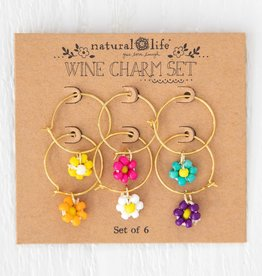 DAISY WINE CHARM SET