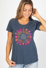 INDIGO BE HAPPY BOHO SHORT SLEEVE TEE