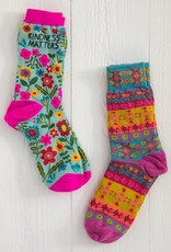 KINDNESS MATTERS BOHO SOCKS- SET OF 2