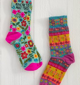 KINDNESS MATTERS BOHO SOCKS-SET OF 2