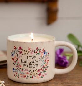 LOVE MY MOM MUG CANDLE