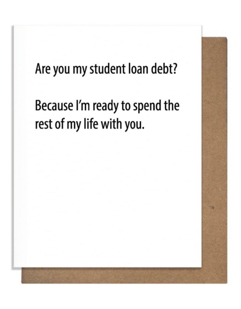 LOAN DEBT GREETING CARD