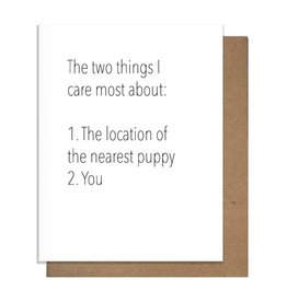 TWO THINGS GREETING CARD