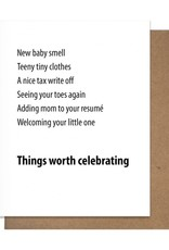 WORTH BABY GREETING CARD