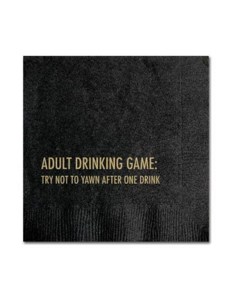 YAWN DRINKING GAME NAPKINS