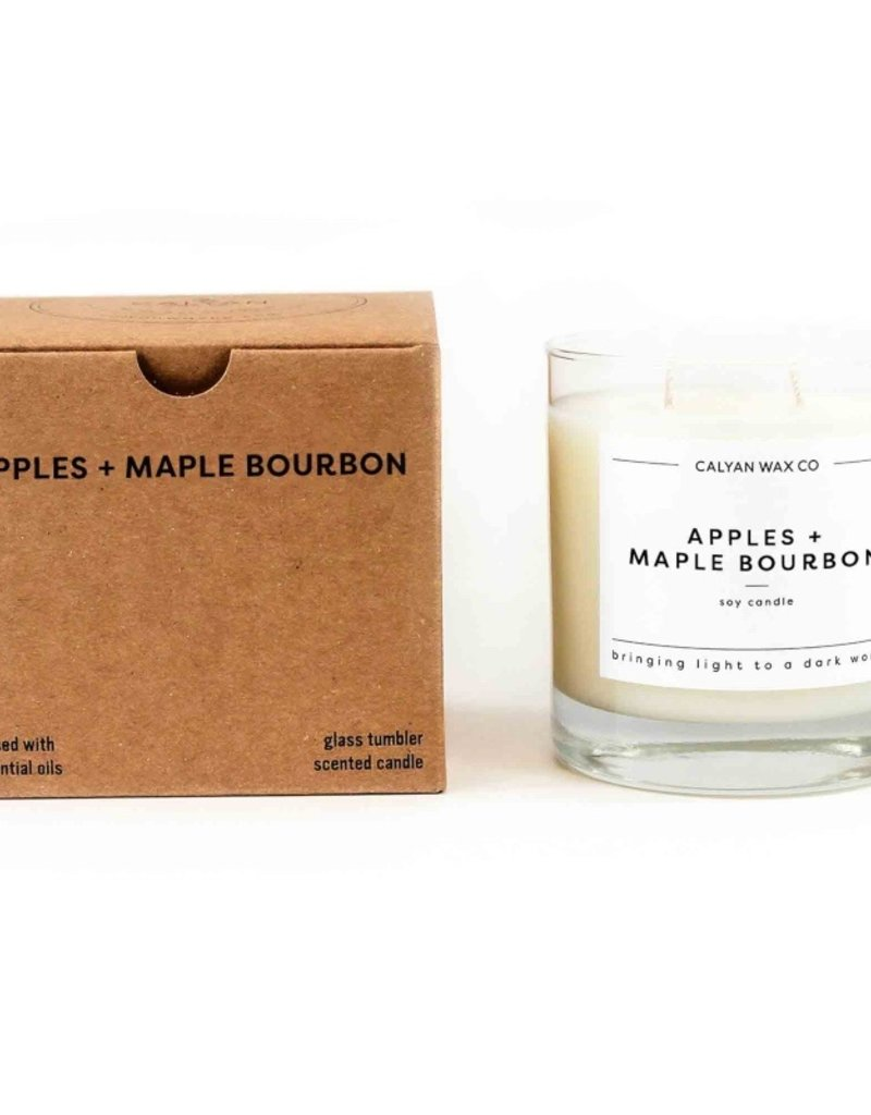 APPLES MAPLE BOURBON GLASS CANDLE