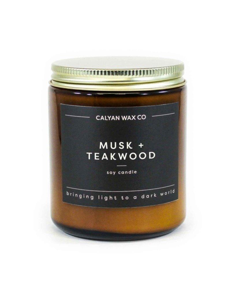 MUSK TEAKWOOD AMBER JAR CANDLE