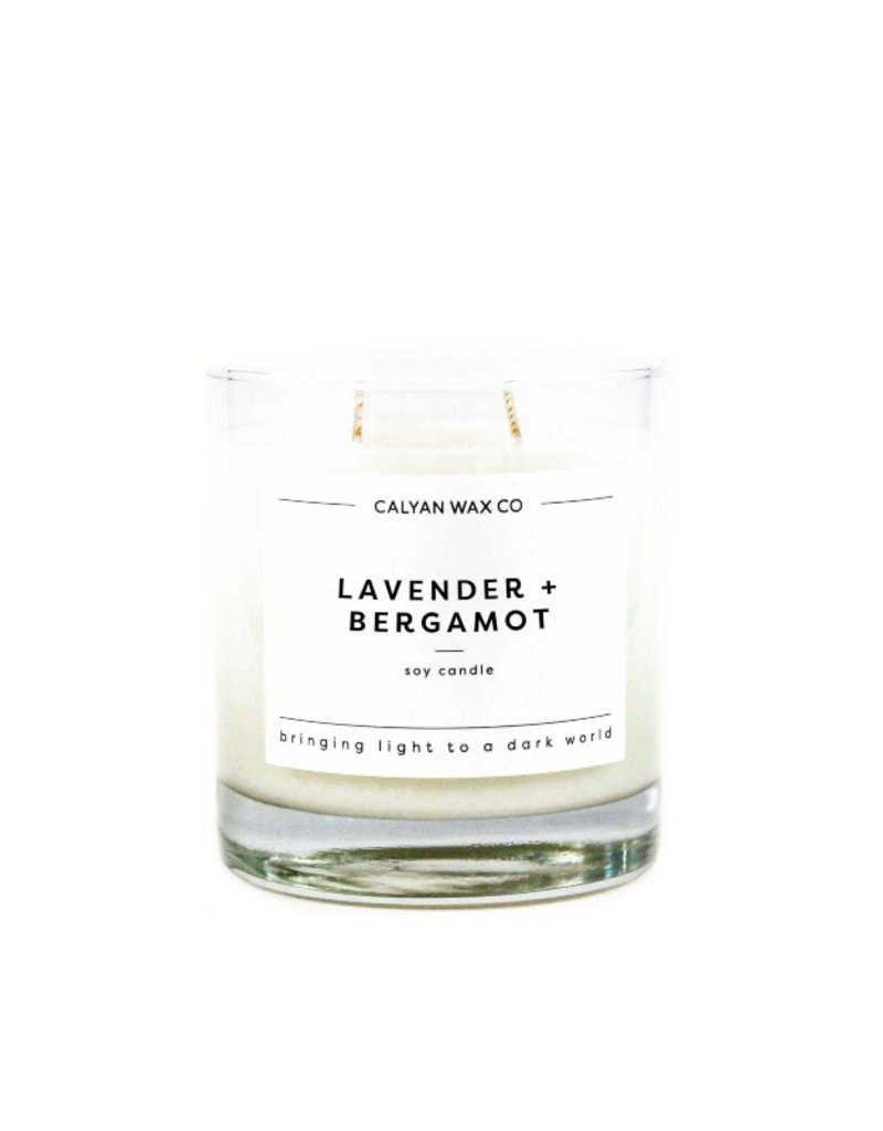 LAVENDER BERGAMOT GLASS CANDLE