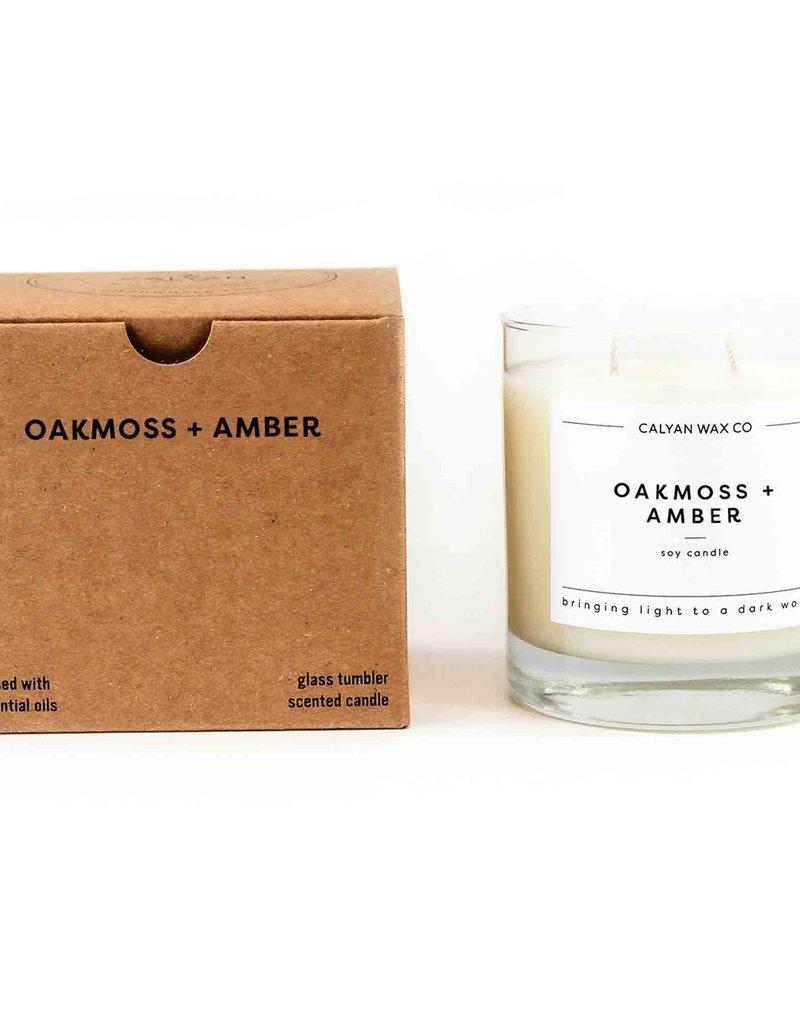OAKMOSS AMBER GLASS TUMBLER CANDLE