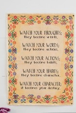 CANVAS TAPESTRY-WATCH YOUR THOUGHTS