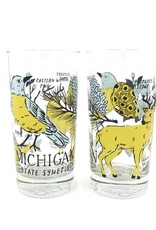 MICHIGAN SYMBOLS 12OZ GLASS