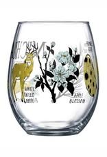 CITY BIRD MICHIGAN SYMBOLS STEMLESS WINE GLASS