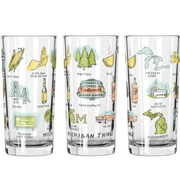 MICHIGAN THINGS 12OZ GLASS