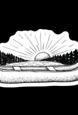 CANOE SUNRISE STICKER
