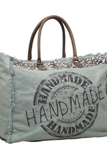 HANDMADE PRINT WEEKENDER BAG