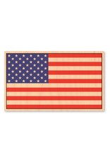 AMERICAN FLAG-WOOD STICKER