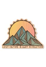 LOST IN THE RIGHT DIRECTION-WOOD STICKER