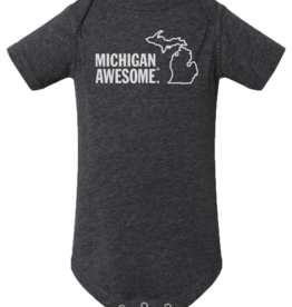 MICHIGAN AWESOME ONESIE- 2 COLOR OPTIONS