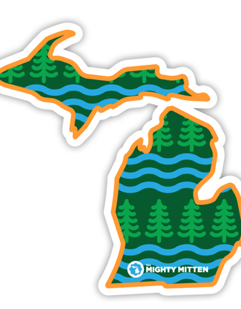 WOODED WAVES STICKER