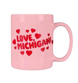 LOVE, MICHIGAN MUG