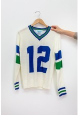 Tribute Sweaters Seattle Throwback Sweater White #12