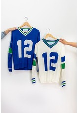 Tribute Sweaters Seattle Throwback Sweater Blue #12